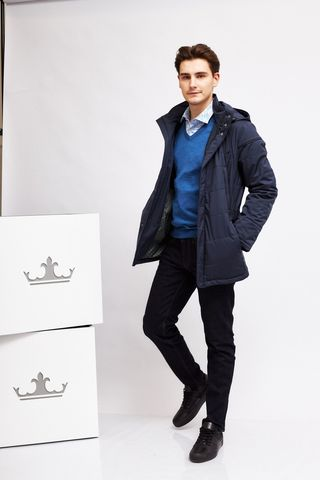 Meucci Куртка с отделкой кожей