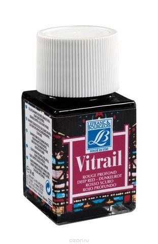 Краска по стеклу Lefranc&Bourgeois VETRAIL 50 мл 466, насыщенный красный