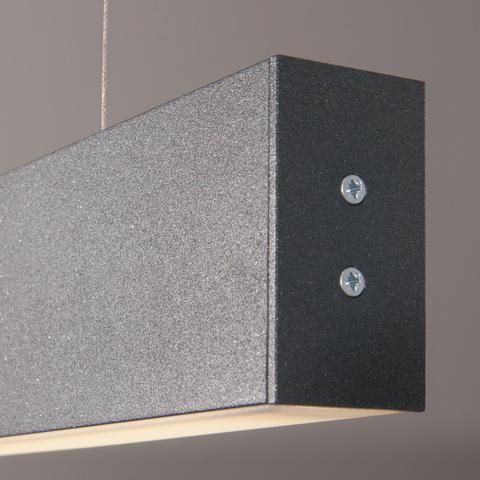 Линейный светодиодный подвесной односторонний светильник 128см 25Вт 4200К черная шагрень LS-01-1-128-4200-MSh