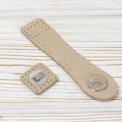 """Застежка для сумки """"Кремовая"""" с магнитной кнопкой"""
