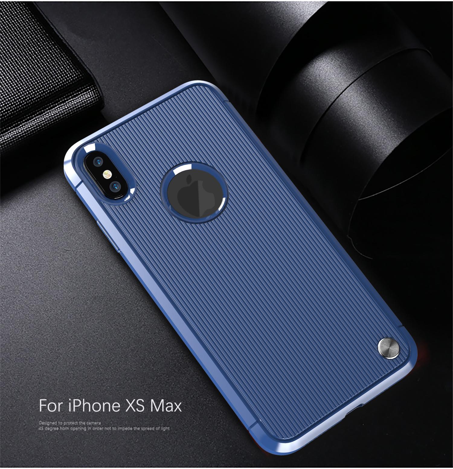 Чехол для iPhone XS Max цвет Blue (синий), серия Bevel от Caseport