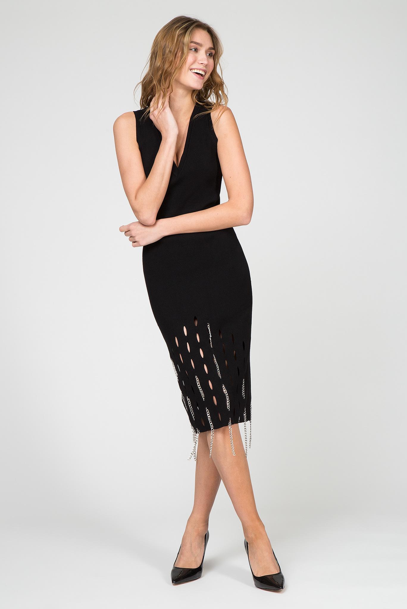 Женское черное платье M-LINA Diesel