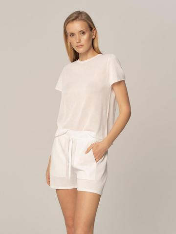Женские шорты белого цвета из вискозы - фото 4