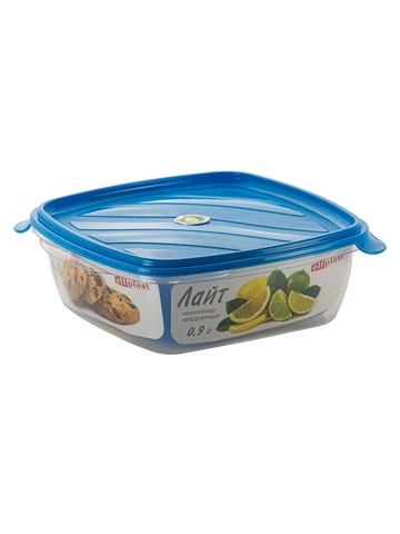 Контейнер пищевой Лайт 0,9 литра квадратный Эльфпласт контейнер для хранения еды с крышкой 17,5х16,5х5,7 см