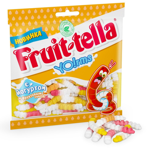 Мармелад жевательный Fruittella Йогуртовые Червячки, 138г 8253789