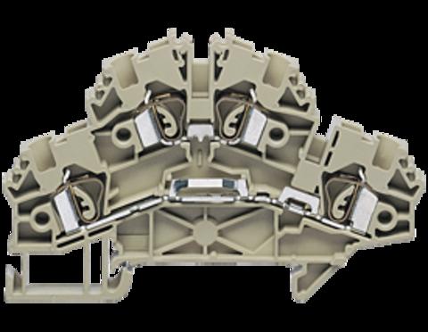 ZRKD 2,5 BG двухуровневая пружинная проходная клемма стандартного бежевого цвета  Артикул: 3562.2