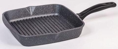 Сковорода-гриль 24 см «Гранит» несъемная ручка