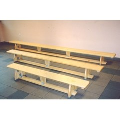 Скамейка гимнастическая на деревянных ножках 2.5м.