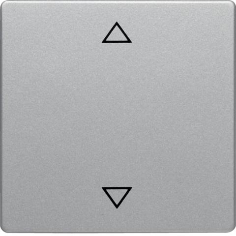 Клавиша с оттиском символа «Стрелки». Цвет Алюминий. Berker (Беркер). Q.1 / Q.3 / Q.7. 16206074