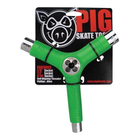 Ключ для скейта (скейт тул) PIG Skate Tool (Green)