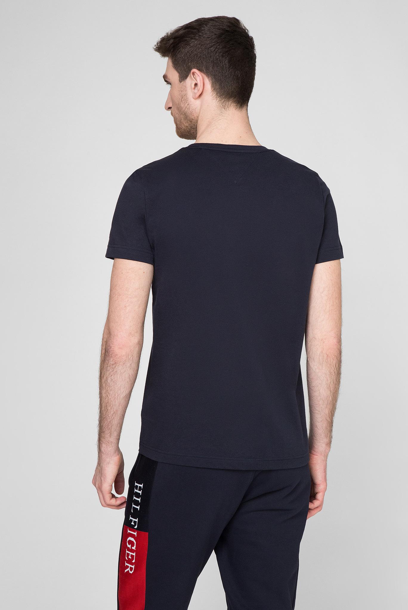 Мужская темно-синяя футболка CORP STRIPE BOX Tommy Hilfiger