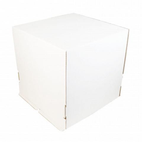 Короб для торта, без окна белый 42*42*45см