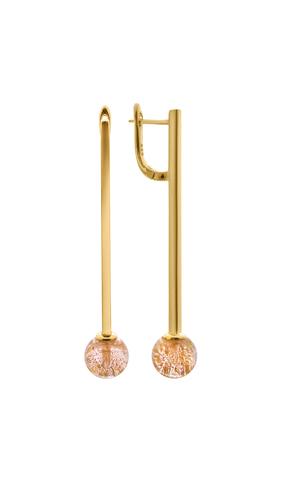 Серьги Bottega Murano золотистые Letitia C`adoro Gold 004O