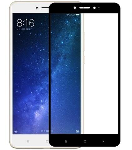 Защитное стекло 3D для Xiaomi Mi Max 2 (Черное)