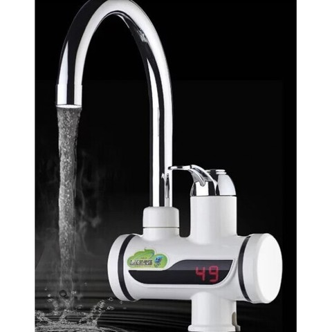 Проточный кран-водонагреватель c электронным дисплеем