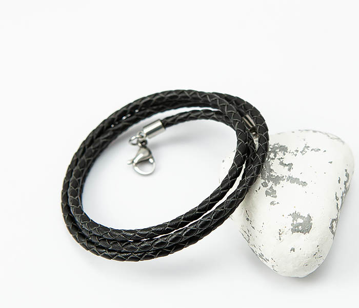 PL285-1 Плетеный шнур на шею из натуральной кожи фото 04