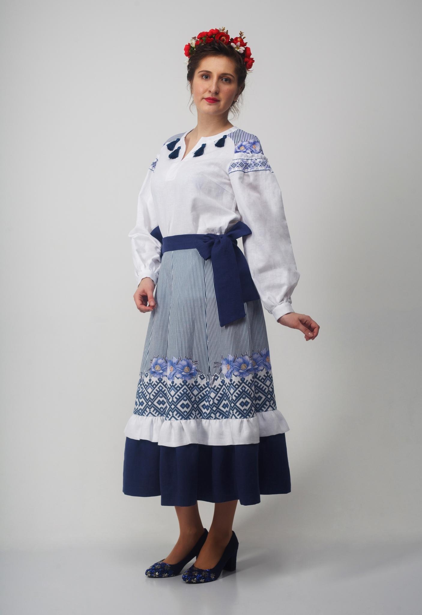 Блуза Дивная 01 с юбкой
