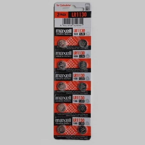 Батарейки часовые Maxell LR1130 (AG 10, 389) 10 BL