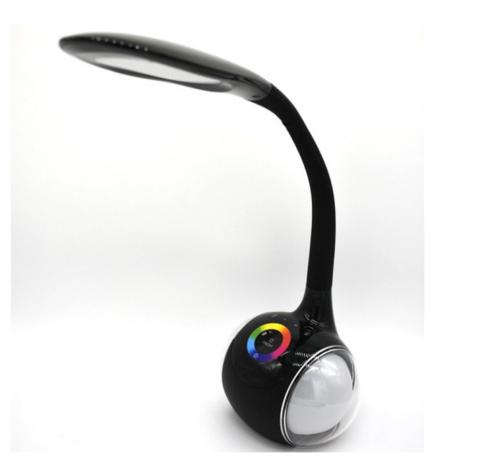 Настольная LED лампа с колонкой и подсветкой