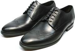 Мужские туфли под костюм Ikos 1157-1 Classic Black.