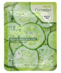 370082 3W CLINIC Тканевая маска для лица с экстрактом огурца Fresh Cucumber