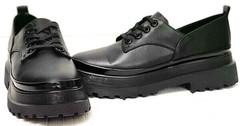 Классические черные туфли на высокой платформе женские Marani magli M-237-06-18 Black.