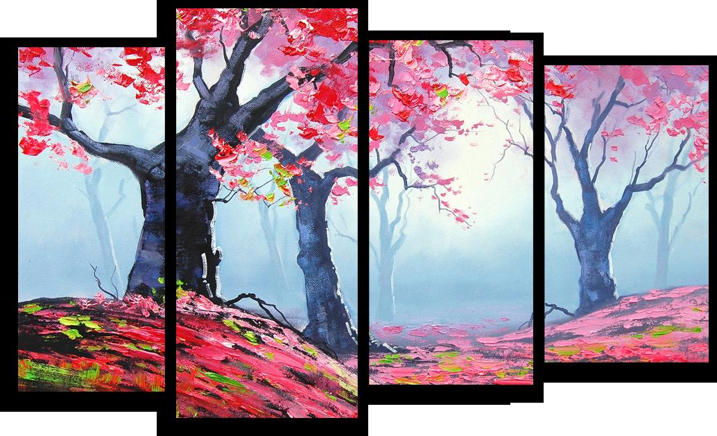 """Модульные картины Модульная картина """"Клен в лесу"""" М159.png"""