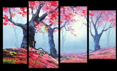 """Модульная картина """"Клен в лесу"""""""