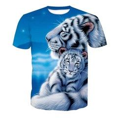 Футболка 3D принт, Тигр (3Д Tiger) 10