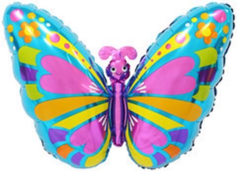К Фигура, Экзотическая бабочка, Голубой, 30''/76 см, 1 шт.