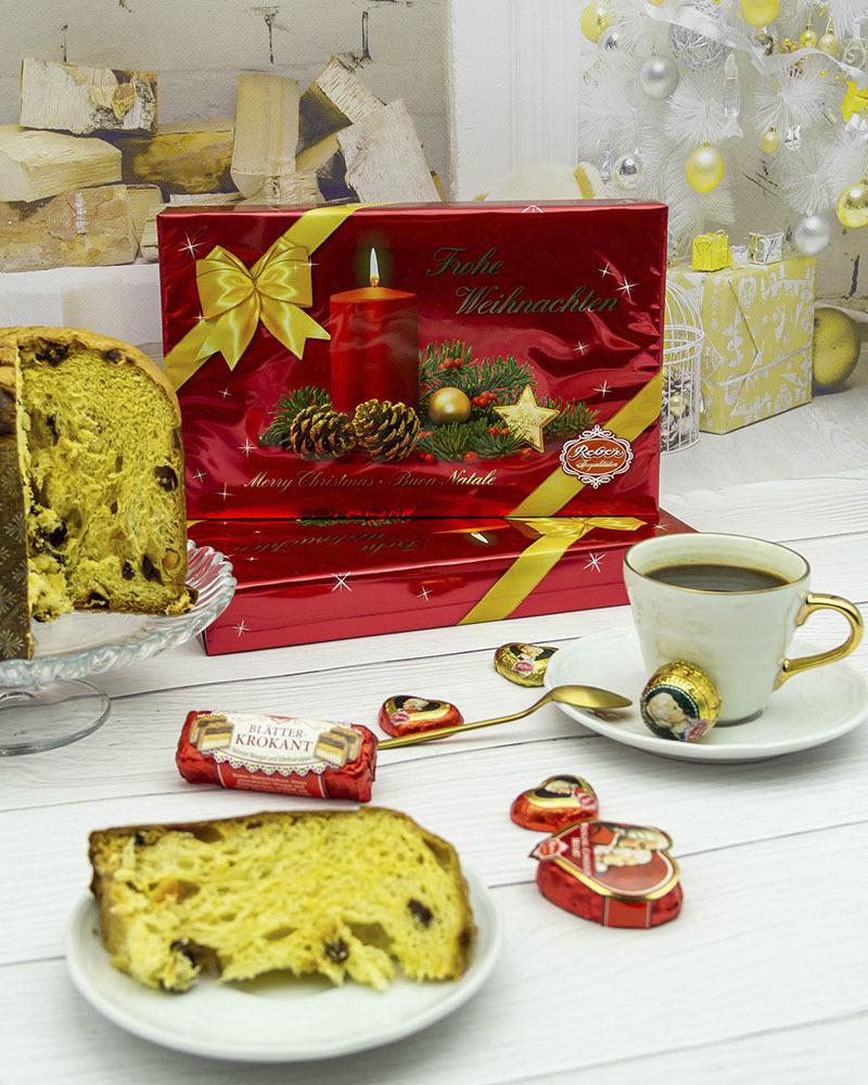 Подарочный Набор Шоколадных Конфет Reber в Новогодней Упаковке 380 гр.