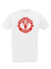 Футболка с принтом FC Manchester United (ФК Манчестер Юнайтед) белая 0001
