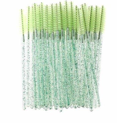 Щеточки для расчесывания ресниц зеленые 50 шт.