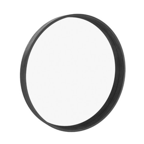 Зеркало круглое Иконс 70 (черный дуб)