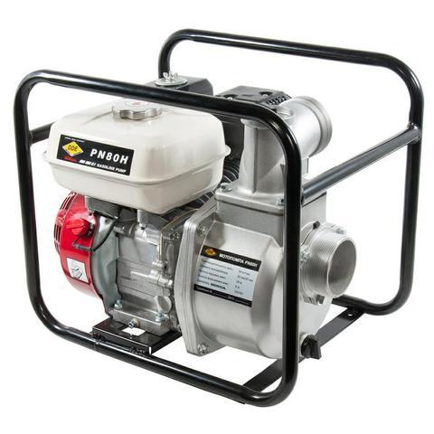 Мотопомпа бензиновая DDE PN80H  (вых 80мм,GX160.,1100л/мин, 3,6л,28кг)