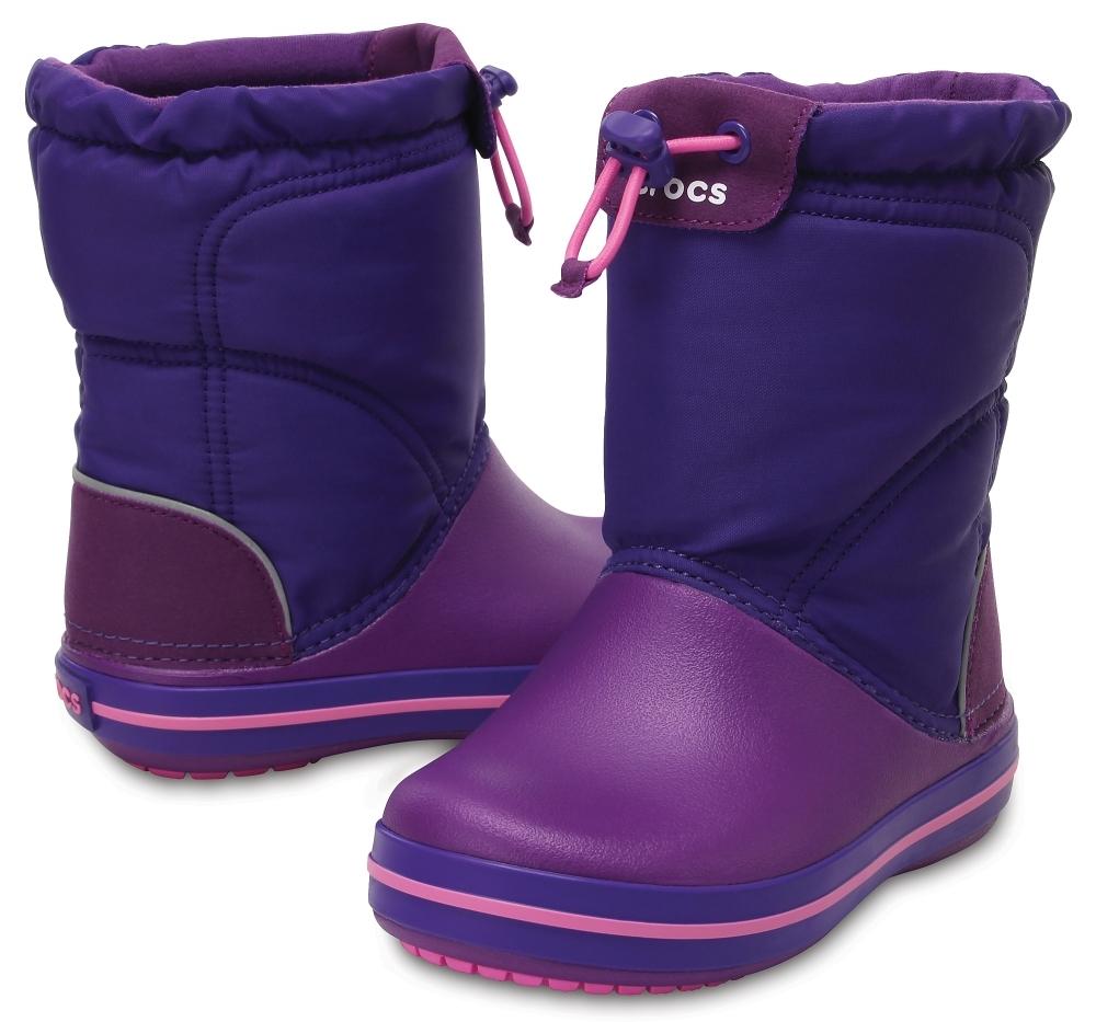 Детские сапожки Crocs Kids' Crocband LodgePoint Boot Amethyst / Ultraviolet