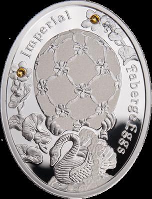 1 доллар. Яйцо Лебедь - Императорские яйца Фаберже. Ниуэ. 2012 г.