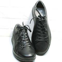 Модные кроссовки кеды мужские кожаные весна осень Ikoc 1725-1 Black.