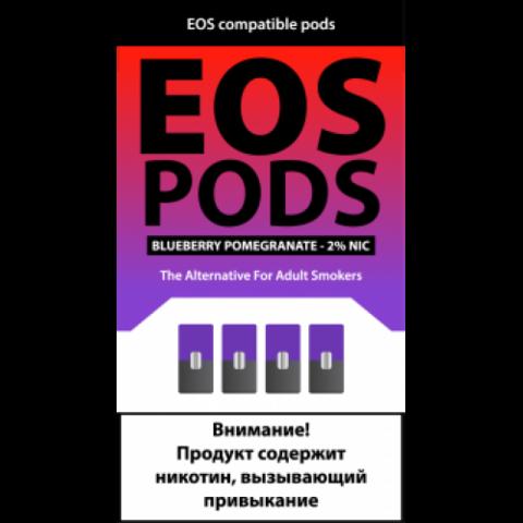 EOS 4 картриджа (для JUUL) Blueberry Pomegranate