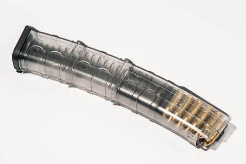 Магазин прозрачный для Сайга-9, 30/20/10 патронов, PufGun