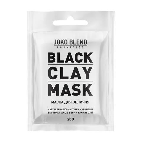 Чорна глиняна маска для обличчя Black Сlay Mask Joko Blend 20 г (1)