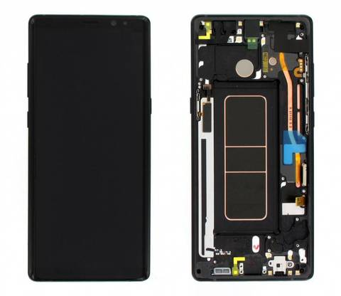 LCD SAMSUNG Note 8 N950F + Touch + Frame Black Orig