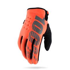 Перчатки 100% Brisker Glove утепленные размер: L Fluo Orange/Black