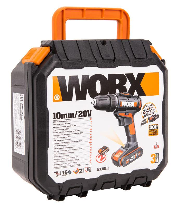 Дрель-шуруповерт аккумуляторная WORX WX101.1 20В