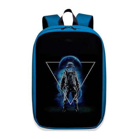 Цифровой рюкзак с led-дисплеем 3 поколение синий