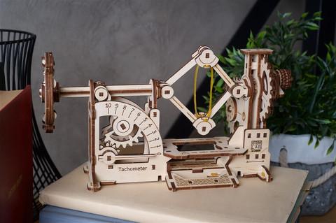 Тахометр STEM (Ugears) - Конструктор, сборная модель, 3d пазл, механическое пособие для юного инженера