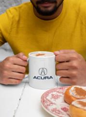 Мужская кружка с принтом Акура (Acura) белая 001