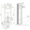 Система инсталляции для подвесного унитаза Migliore Expert Evo(крепление стена-пол, без панели и ручки) H1130xL400xP150/210 mm схема