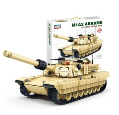 Конструктор серия Армия Боевой танк США Абрамс M1A2