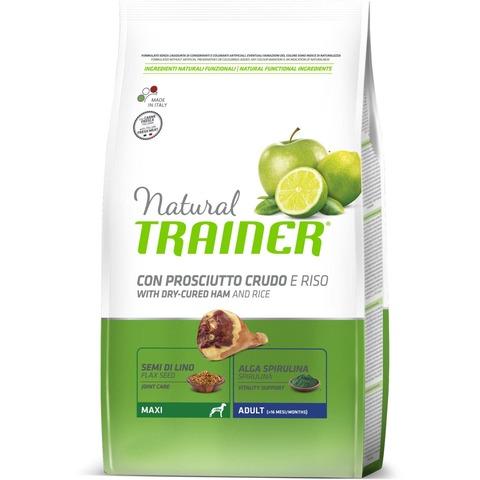 Trainer Natural Medium корм для собак средних пород, с сыровяленой ветчиной и рисом 12 кг.